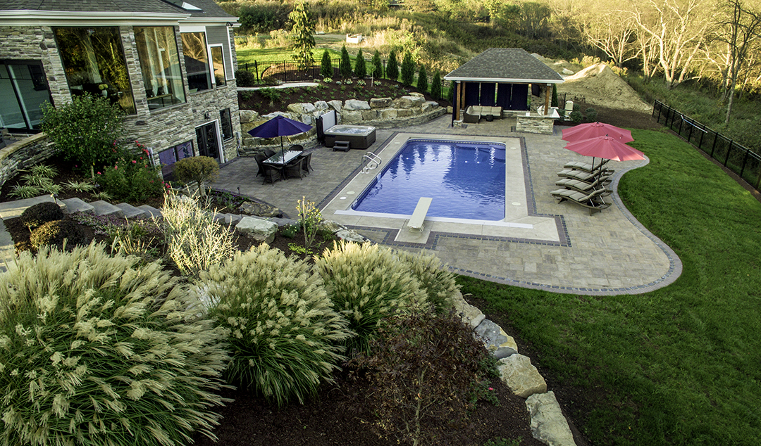 Backyard Retreat in Gibsonia, PA - Designed by Beall's Landscaping