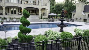 High end landscape with luxury pool designed by Beall's Landscaping