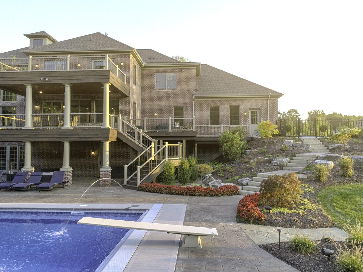 Luxury Backyard Built into a Hillside