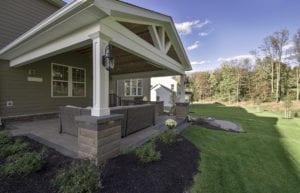 Custom Backyard in Hampton Township designed by Beall's Landscaping