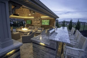 Adam's Township Epic Outdoor Living Space designed by Beall's Landscaping