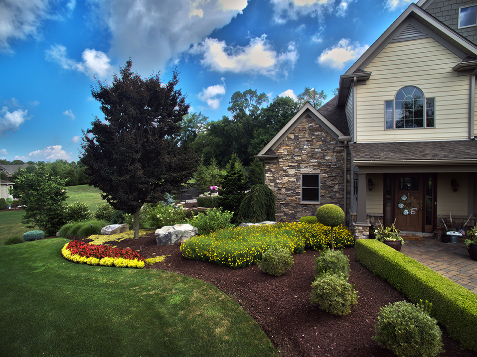 New Construction Landscape Design in Plum by Beall's Landscaping