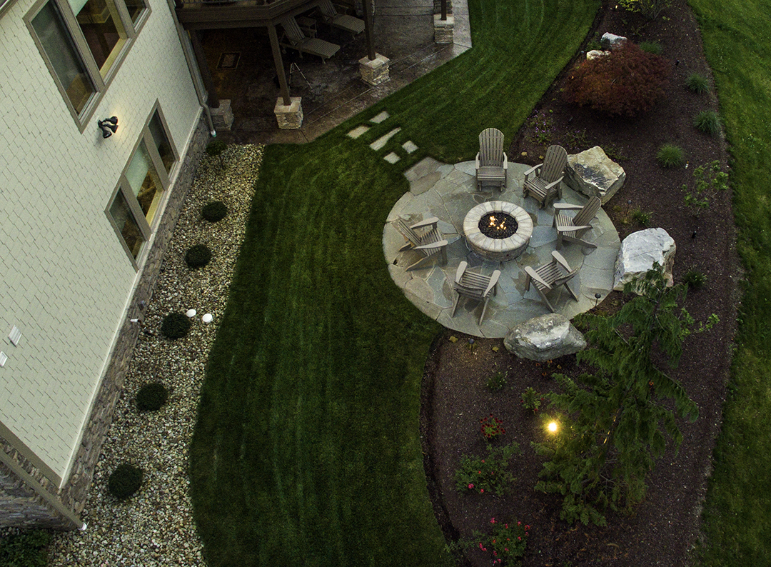 Beall's Landscaping beautiful design projects - firepit