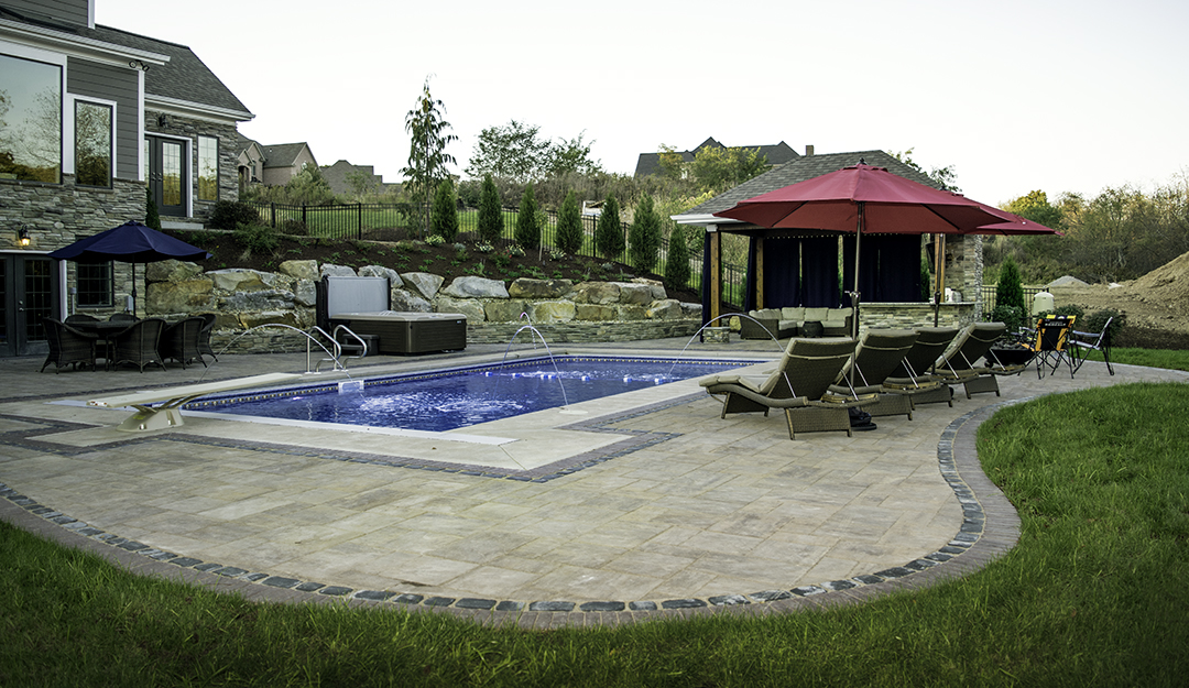 Backyard Retreat in Gibsonia designed by Beall's Landscaping