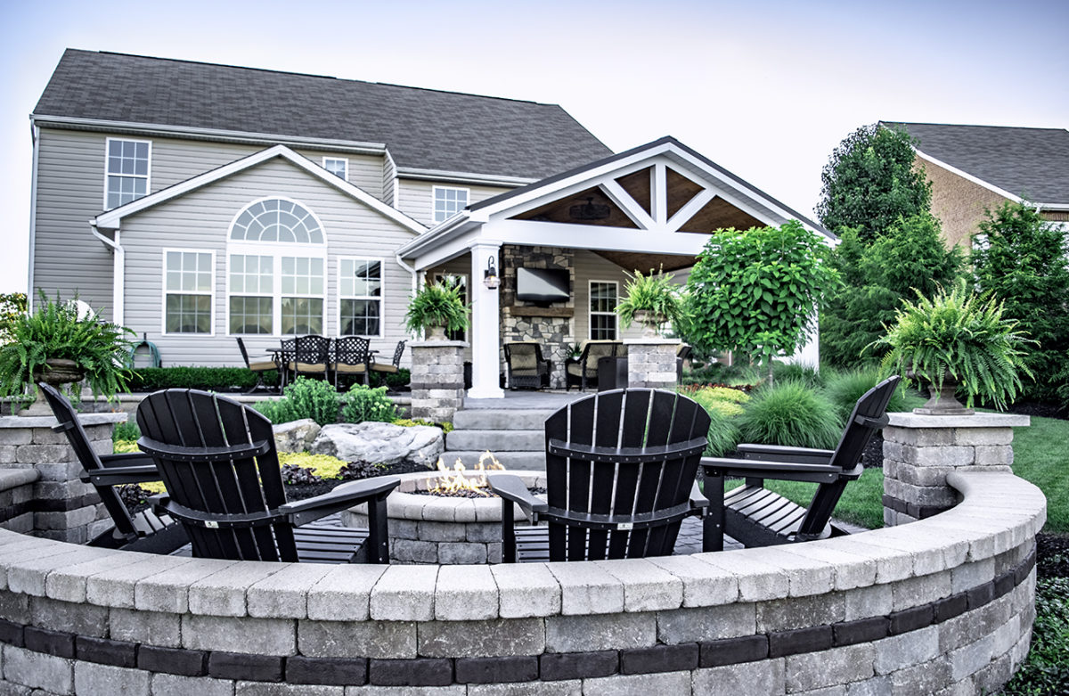 Beall's Landscaping beautiful design projects - natural steps