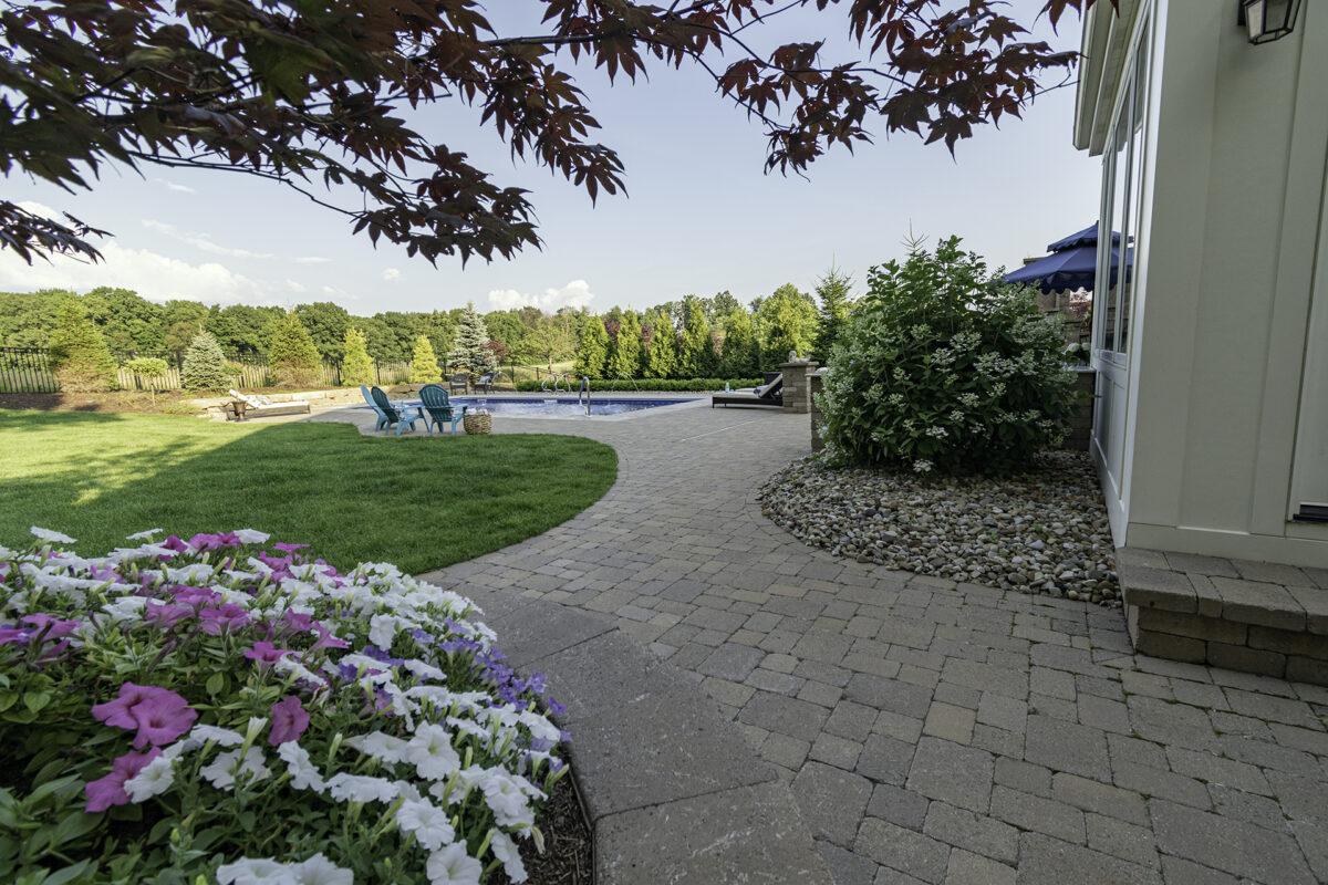 Indian Meadows Elegant Backyard designed by Bealls Landscaping