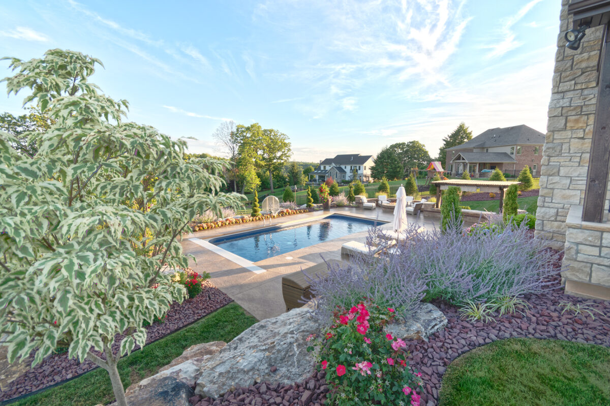 Beautiful Barrington Homes in North Park Manor designed by Beall's Landscaping